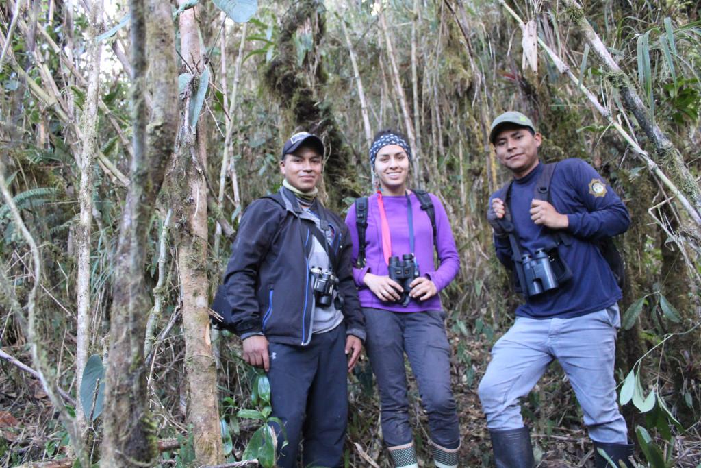 De izquierda a derecha: Luis Calapi, Karen Varela y William Artega.